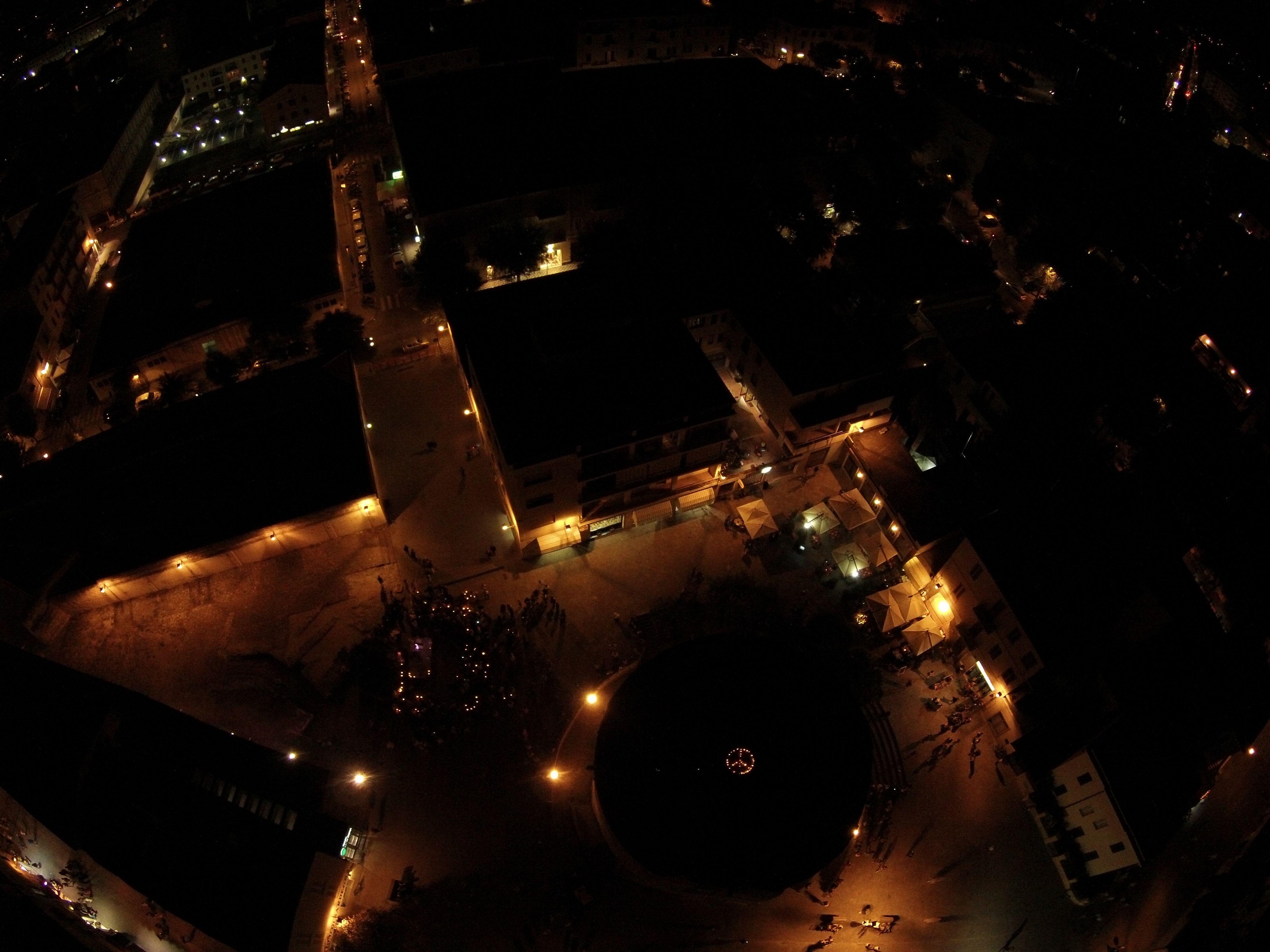 Giornata della pace organizzata dallo #SpazioT e foto scattata dal #drone #Torredelporticciolo #Alghero #Sardegna