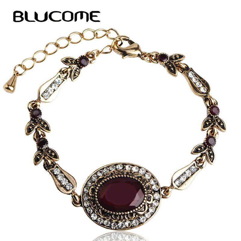 vintage resin bracelets women hand accessories bijoux pulseira pulseiras femininas bijuterias turkish lady party jewelry