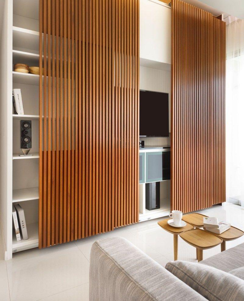 Moderne Holz Wandverkleidung Apartment Design Home House Interior