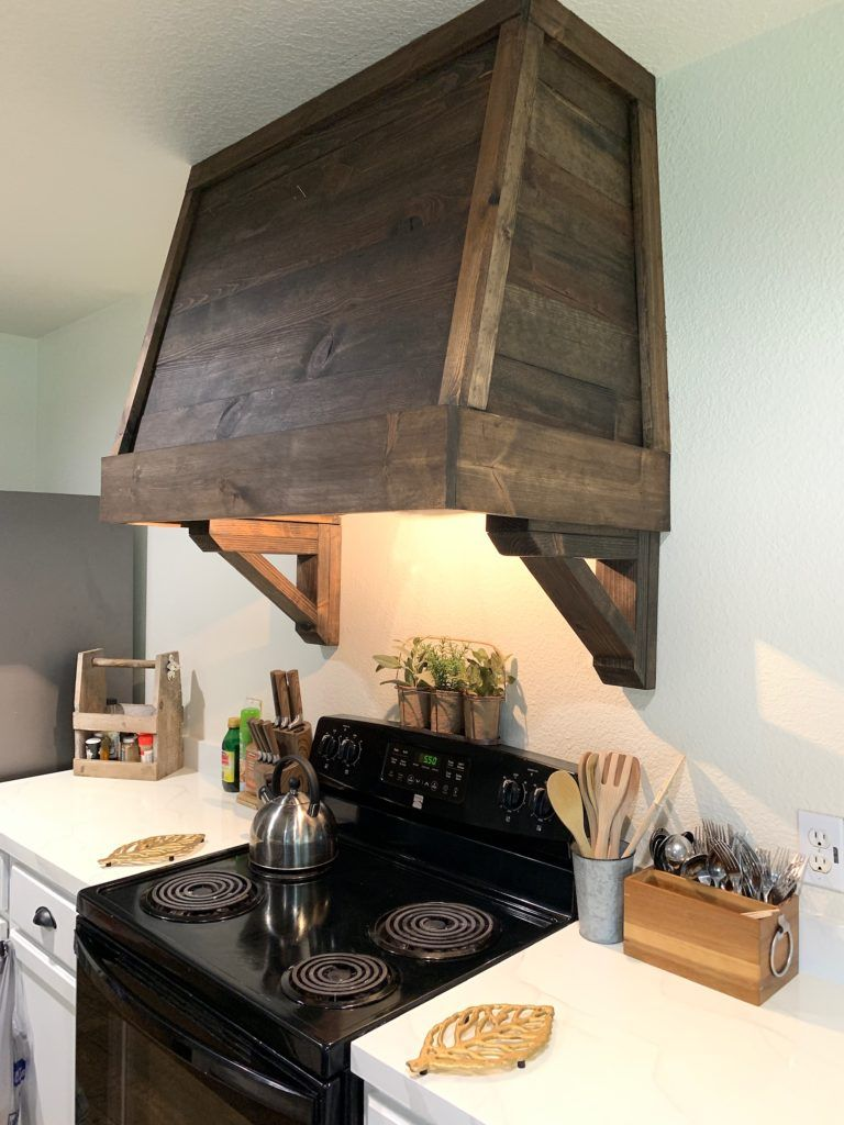 Diy rustic vent hood cover with images rustic diy