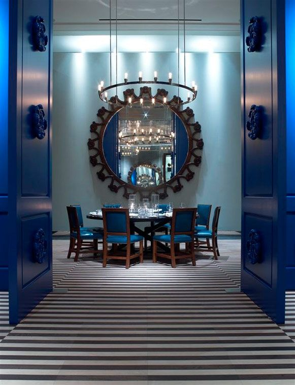 saltwater blue doors private dining room - Blue Cafe Decorating