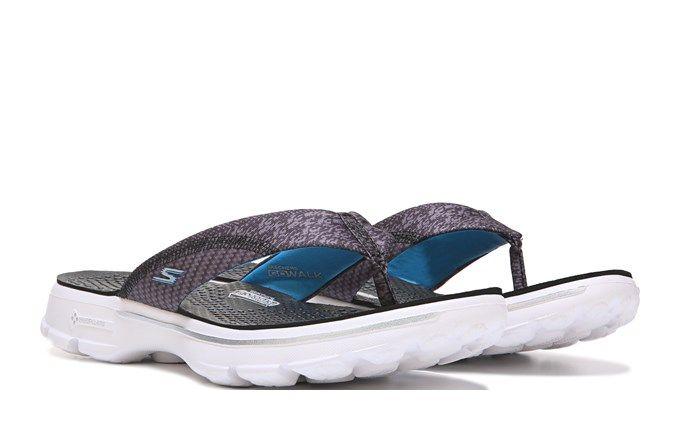 53750e8c8 Skechers Women s GOwalk Pizazz Sandals (Black White)