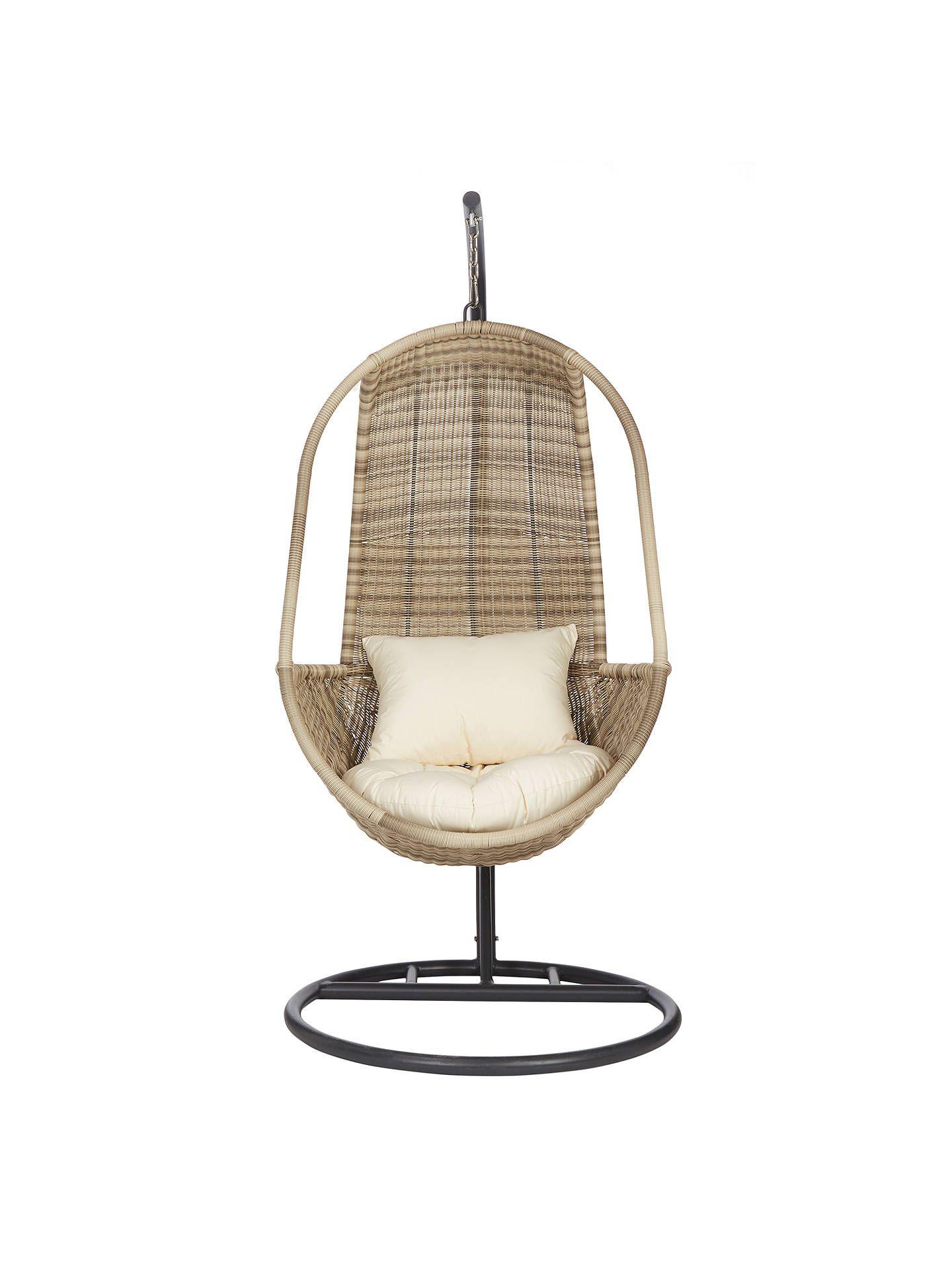John Lewis Partners Dante Pod Hanging Chair Natural Hanging Chair Pod Chair Hanging Chair Outdoor