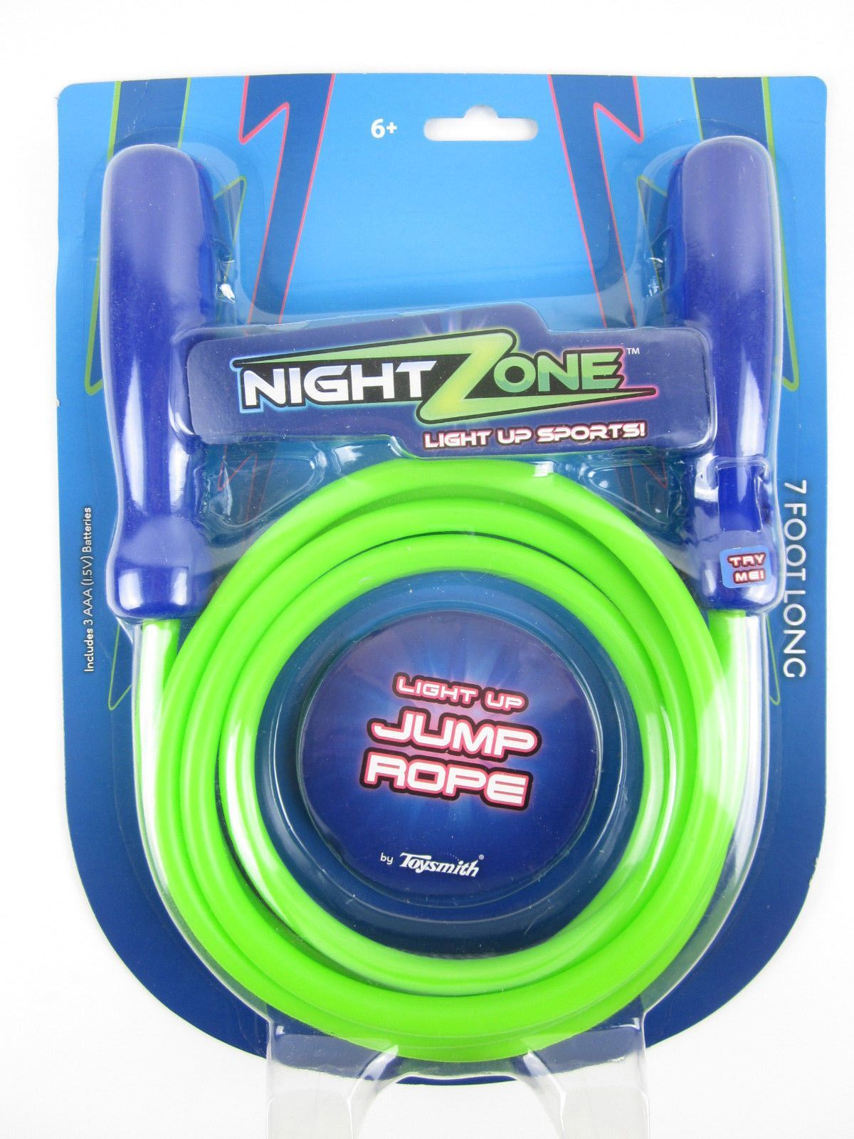 Light Up Jump Rope 7' Long Night Zone Light Up Jump Rope~Led