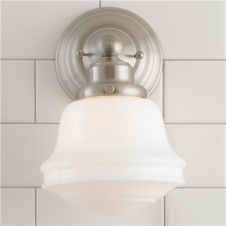 Milk Glass Bathroom Sconce Bathroom Sconces Glass Bathroom And - Master bathroom sconces