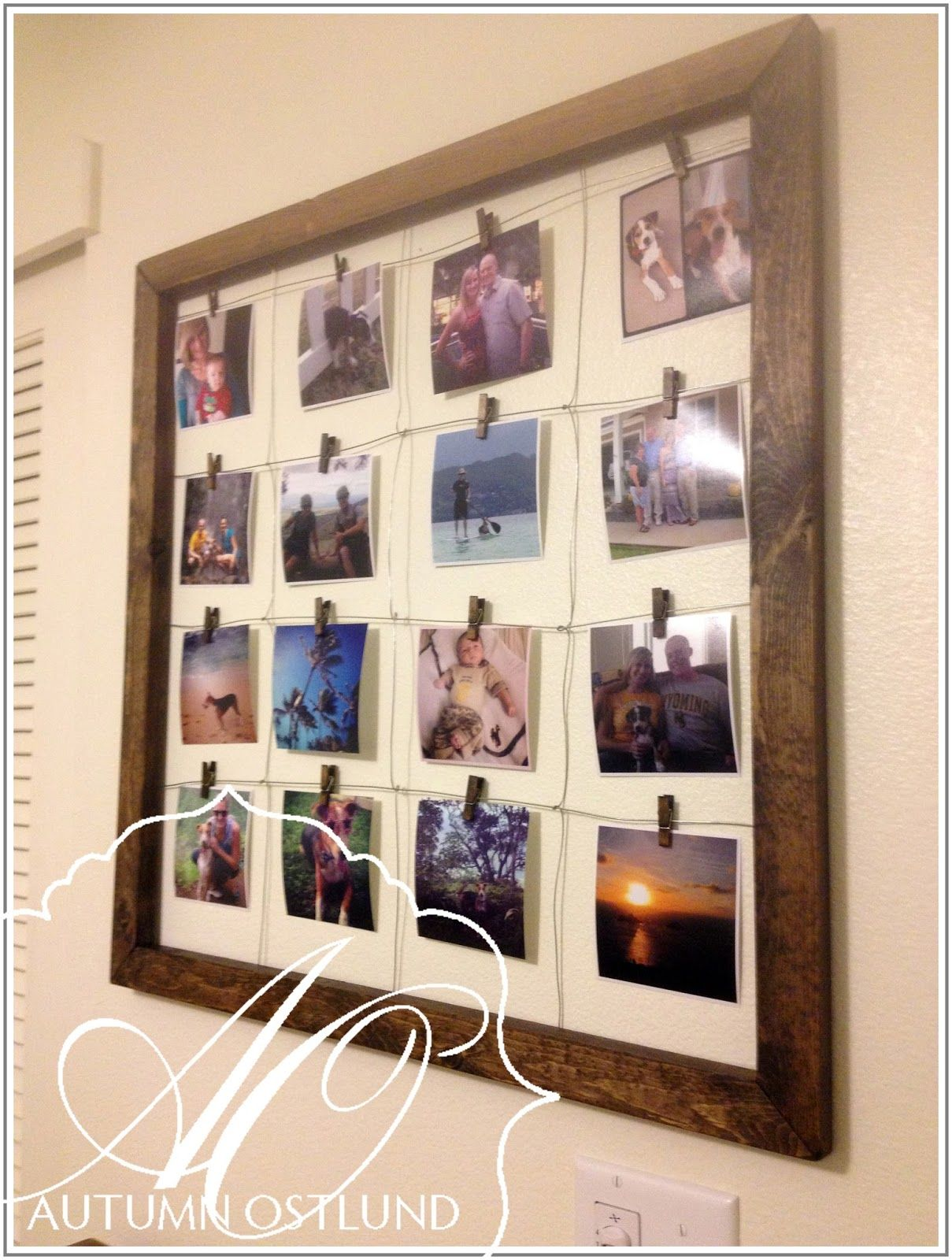 Photo Wall Ideas Without Frames  Google Search
