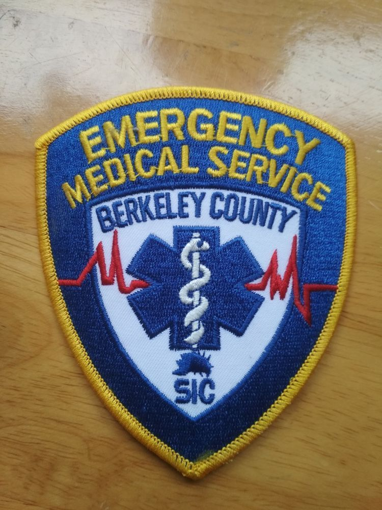 Free Shipping Berkeley County SIC Patch Emergency Medical