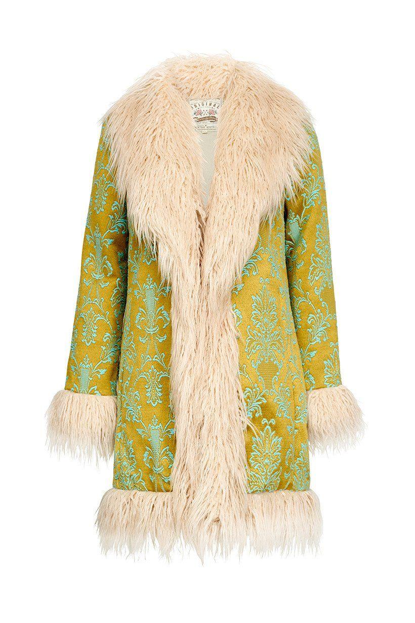 cd873b59b4 Spell Designs Anastasia Brocade Faux Fur Jacket #rollover   never ...