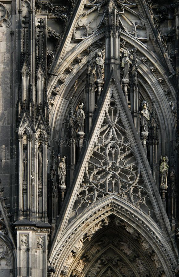 Cologne Cathedral. A detail of the main gothic facade of the Cologne Cathedral i , #affiliate, #detail, #Cathedral, #Cologne, #main, #Germany #ad
