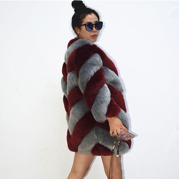 48da9866f0f ZADORIN 2018 Designer Brand Luxury Faux Fox Fur Coat Women Plus Size Winter  Coat Thick Warm Fake Fur Jacket Coats Chaqueta Mujer