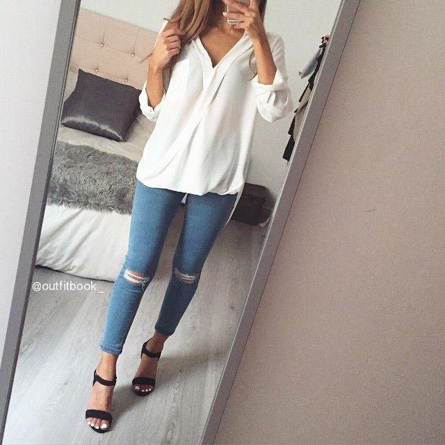Tonights outfit Vous avez été très nombreuses à attendre sont retour, la veste avec fentes est de nouveau disponible www.outfitbook.fr ✔   Padgr\u2026