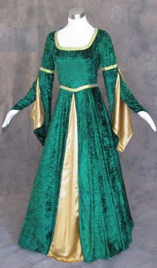 Green Medieval Renaissance Game of Thrones Cosplay LARP Dress Costume Gown