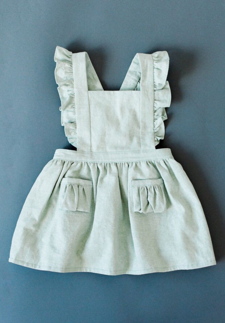 Handmade Toddler Pinafore Dress  9c20809199