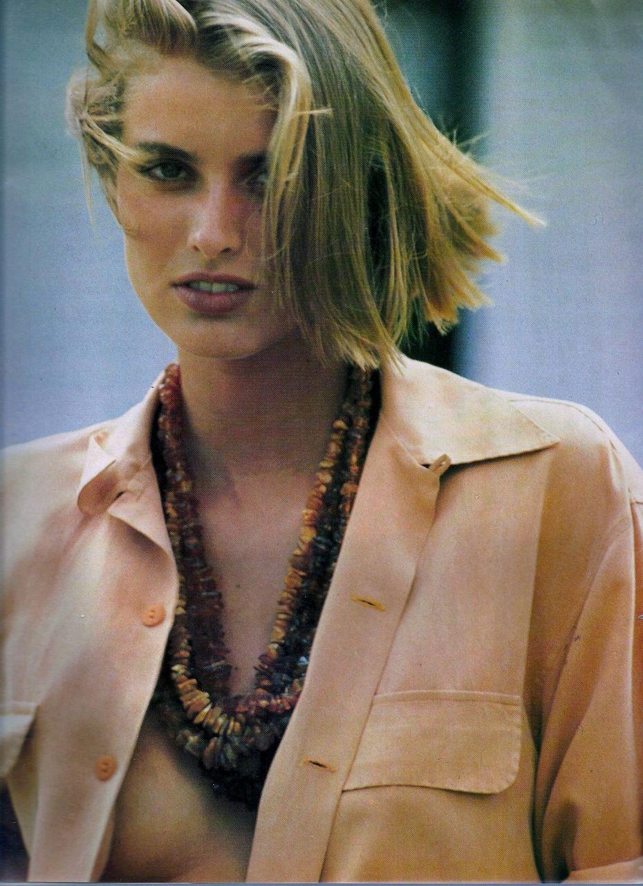 Elle France June 19th, 1989 Soie D'Ete Models: Cathy Fedoruk & Unknown Photographer: Marc Hispard Stylist: Patricia Boin Hair: Guillaume Makeup: Laura Mercier