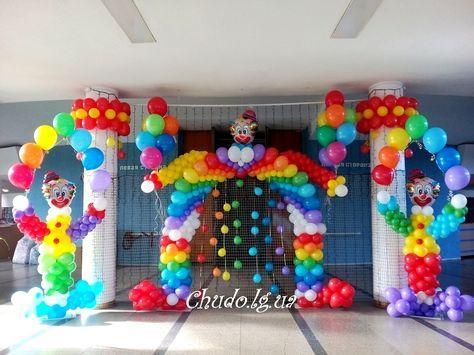 Типичный аэродизайнер Decoration Pinterest Globo, Arcos y Circo - imagenes de decoracion con globos