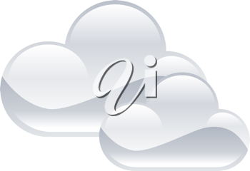 Royalty Free Clipart Image of an Illustration of Clouds