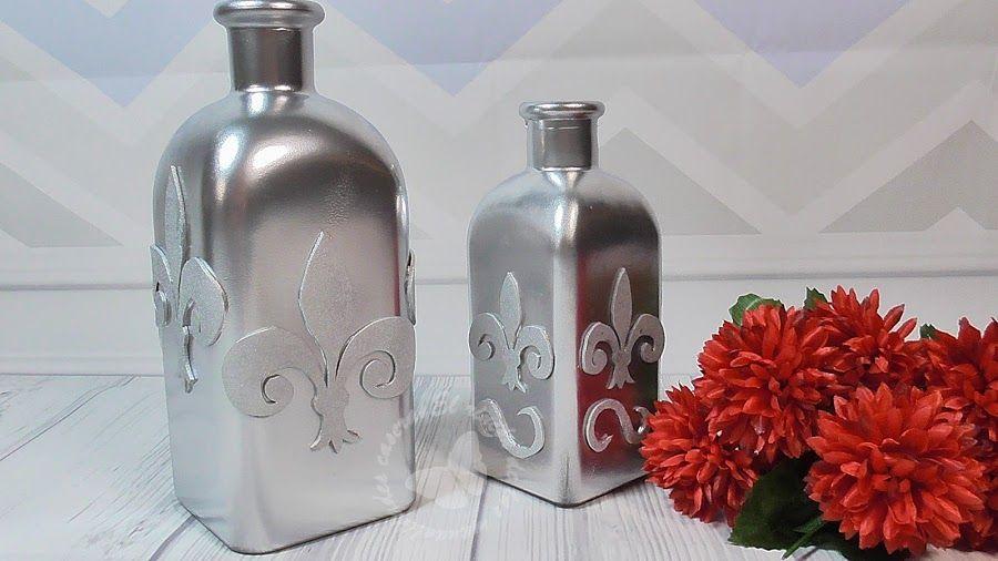 Decora y reutiliza botellas de vidrio con goma eva manualidades