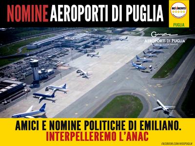 """MoVimento Stellato Foggia: NOMINE AdP. #M5S: """"AMICI E NOMINE POLITICHE DI EMI..."""