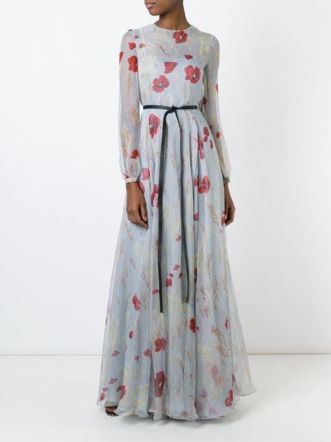 983a3155bc6 Valentino вечернее платье с цветочным принтом
