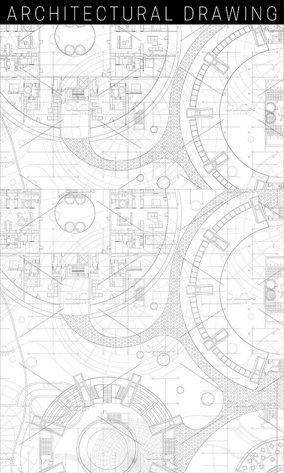 Architectural Blueprint Architecture Drawing Creative Drawing