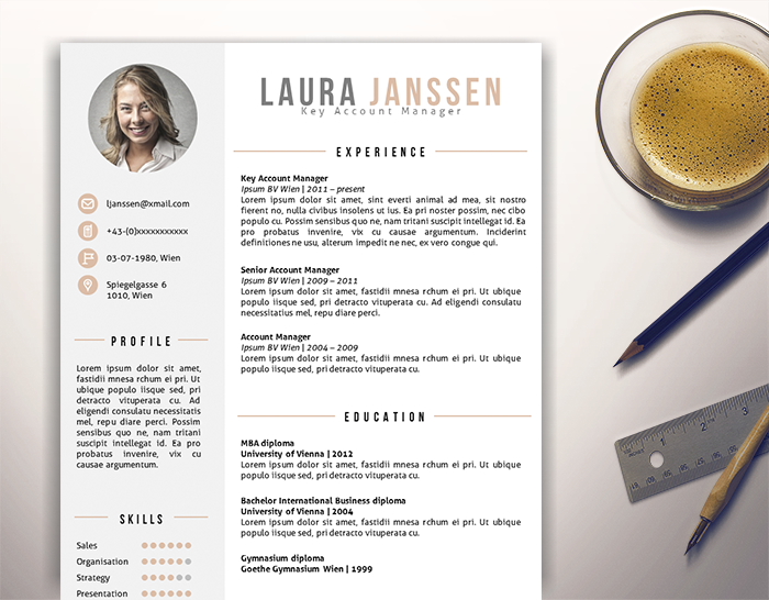 2 page cv resume template in ms word docx matching cover