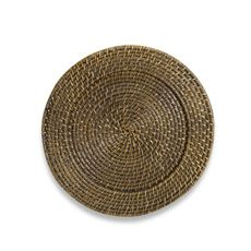 "Round Rattan Espresso 13"" Charger Plate (6)  $6.99"