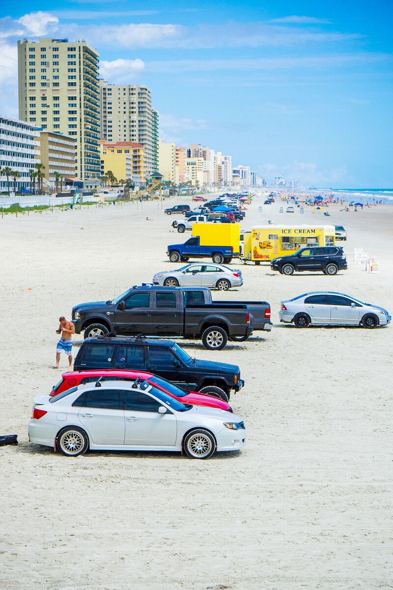 Parking On The Beach Is One Of Por Things To Do In Daytona