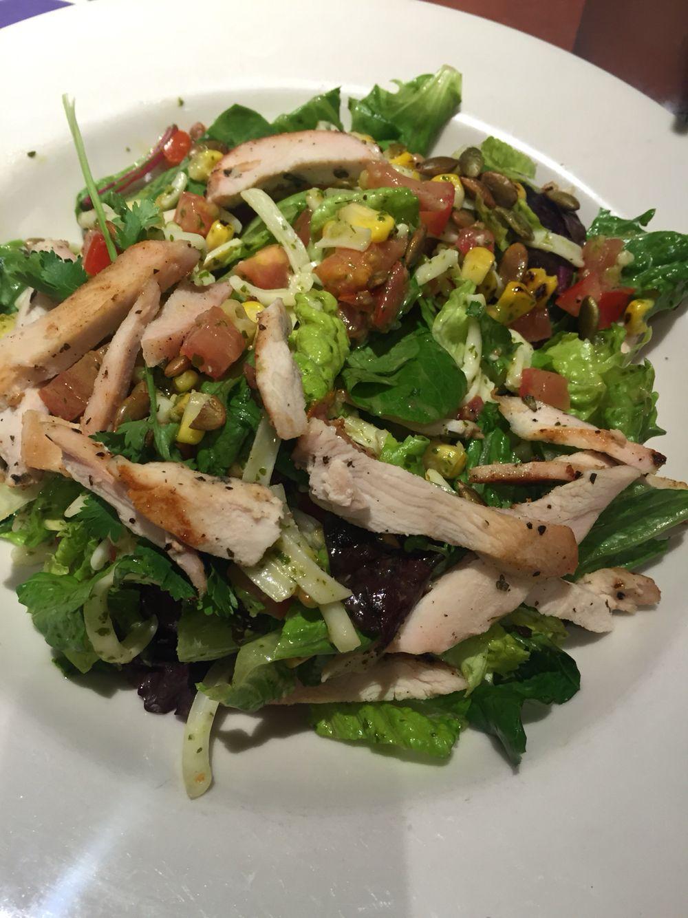 Grilled ck salad w/cilantro dressing.
