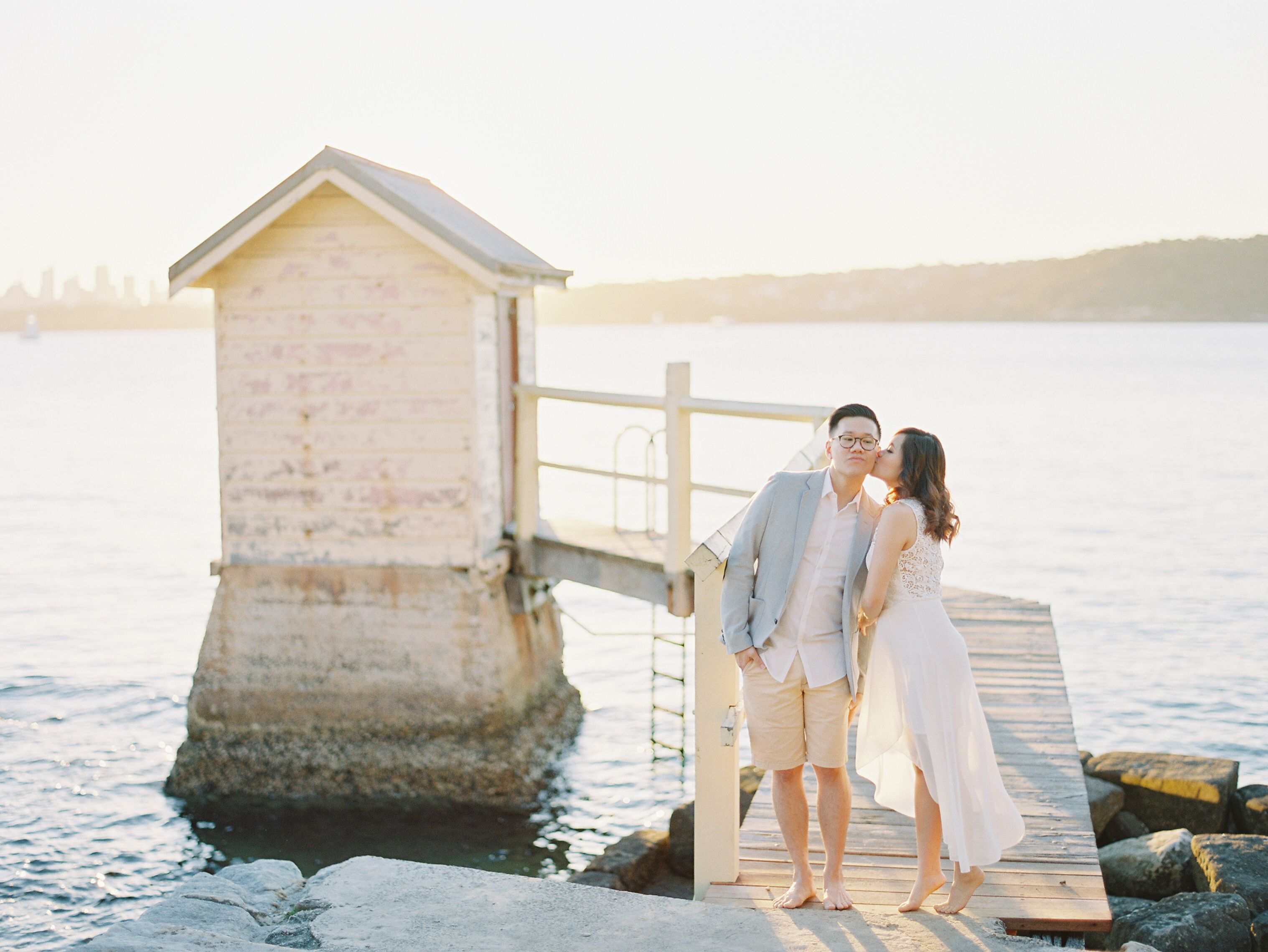 Beach wedding pre shoot  Golden hour for engagement and pre wedding photos at the beach is