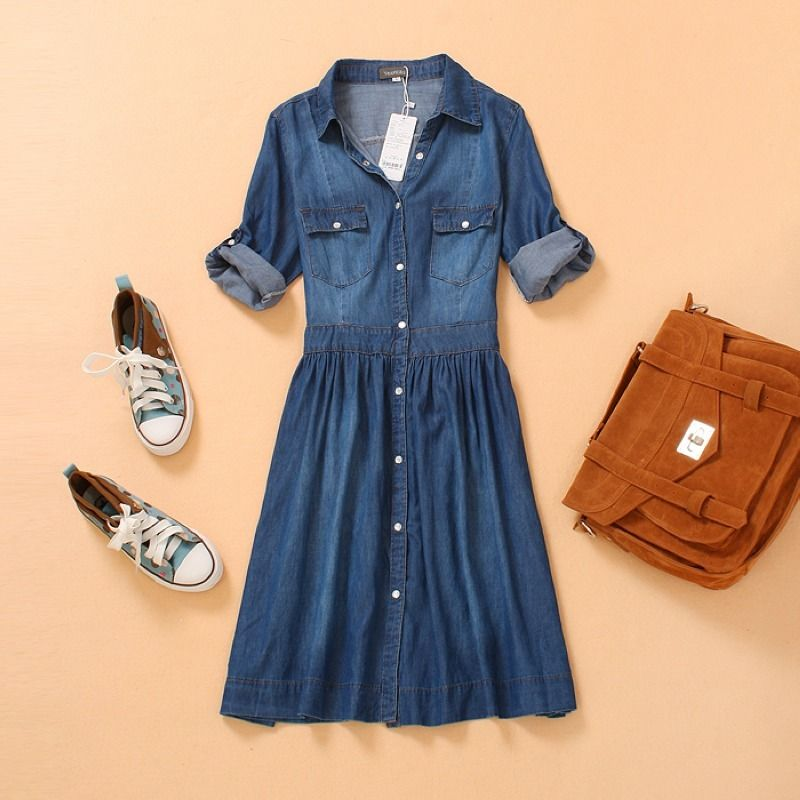 c14c09df4e Aliexpress denim dress