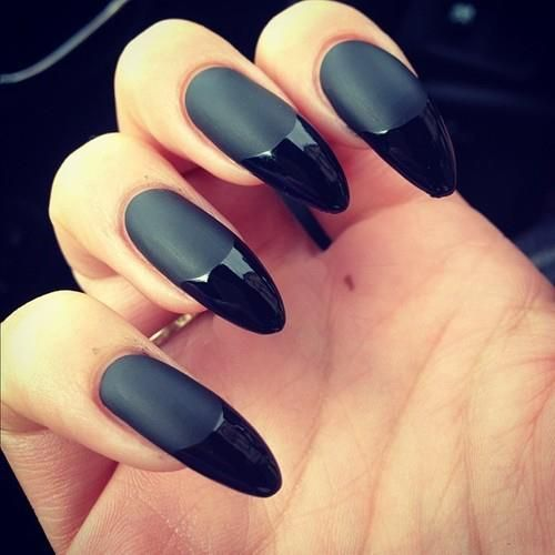 #black #grey #long #nails #party #beautiful #nail #art #amazing