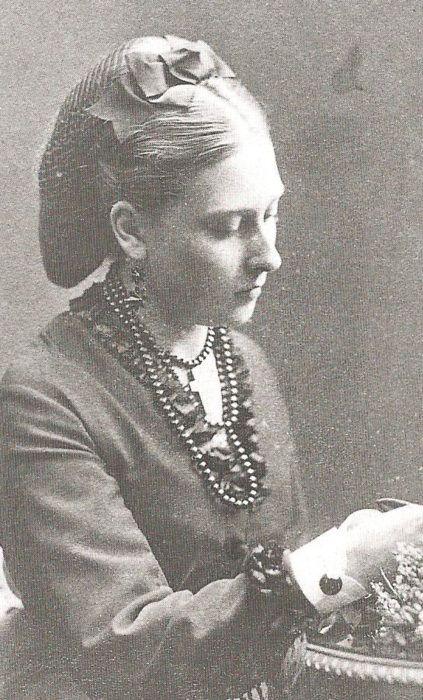 Princess Beatrice, Queen Victoria's youngest daughter - she actually looks pretty in this one! Love the hair.