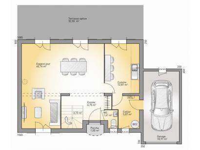 Modèle de maison Bastide 140 - 4 chambres - Maisons France Confort - plan pour construire sa maison