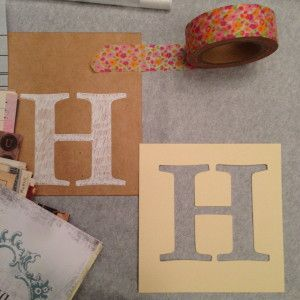 letter stenciling book club invitation tutorial via Heidi on Park