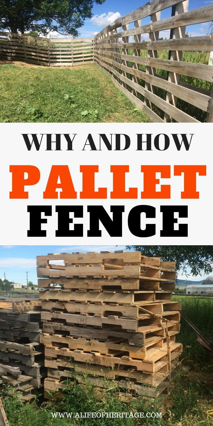 Pallet Fence: Great for small livestock   Wood pallet ...