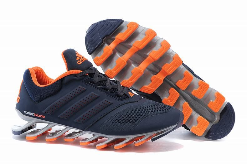 hot sale online 8a27e 6cacb On Feet Mens Adidas Springblade Drive 2.0 Navy Orange Trainers