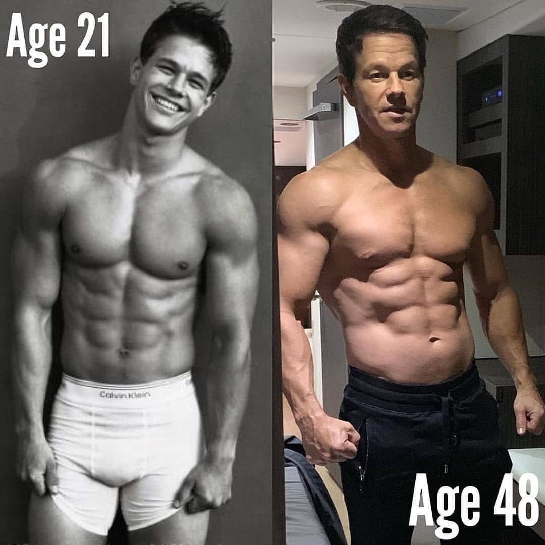 Mark Wahlberg still in shape for a 48 years young # ...