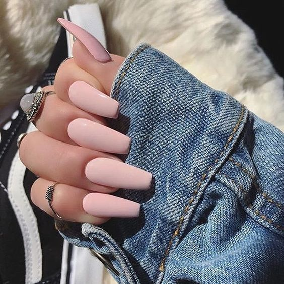 Have A Look At Our Coffin Acrylic Nail Ideas With Different Colors Trendy Coffin Nails Acrylic Nails Different Colors Pink Nails Dream Nails Fake Nails