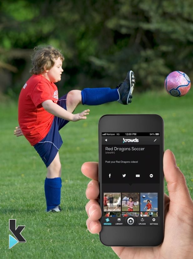 Miss your child's first soccer goal because another parent's head got in the way? We bet another parent or three caught all the action. Create a private Krowd with other parents and upload all your videos from the game!   Krowds is a great way to capture and share family memories – from soccer games to dance recitals and more! #app #android #iphone #familytech #free #sports