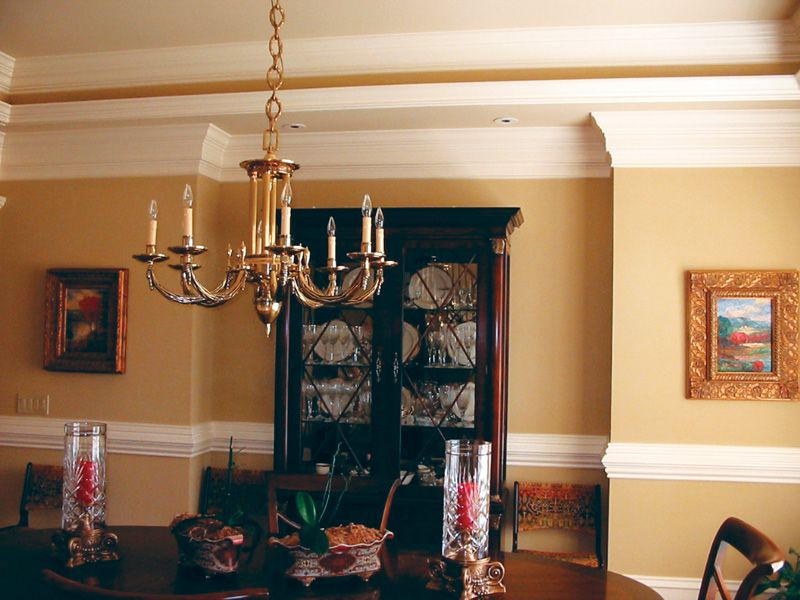 A generously sized alcove in the formal dining room provides the perfect spot for an oversized
