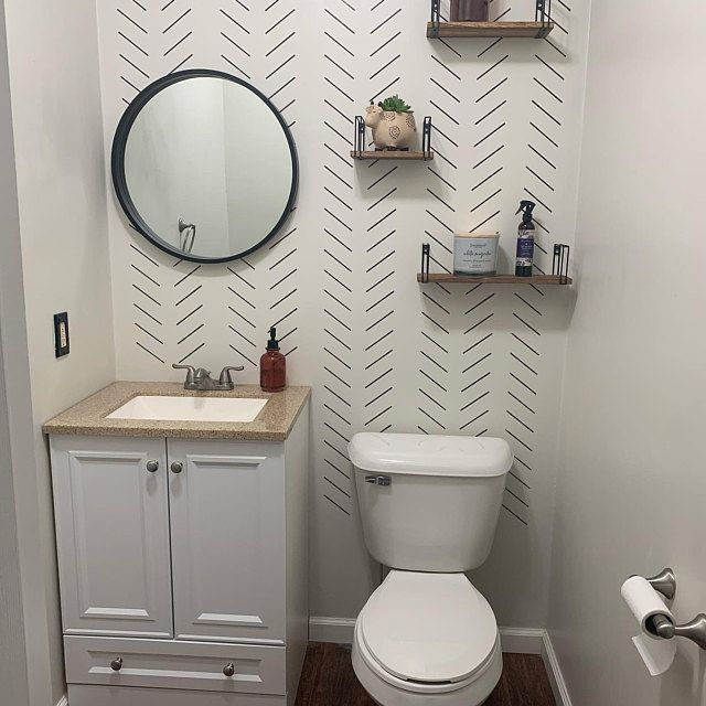 Herringbone Stencil | Geometric Wall Stencil | DIY Projects | Easy to use | Sharpie Wall Stencil | Chevron Wall Stencil | Stencil For Walls -   21 diy Bathroom wall ideas