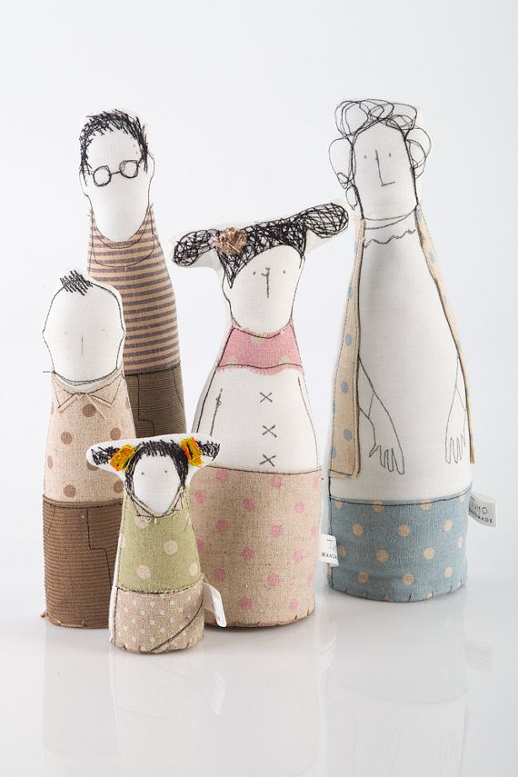 Family portrait art doll soft sculpture 5 by TIMOHANDMADE