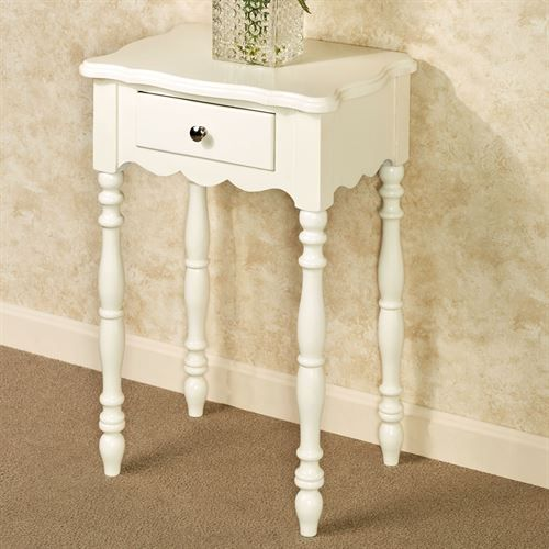 Awesome Ivory Accent Table With Drawer Ideas