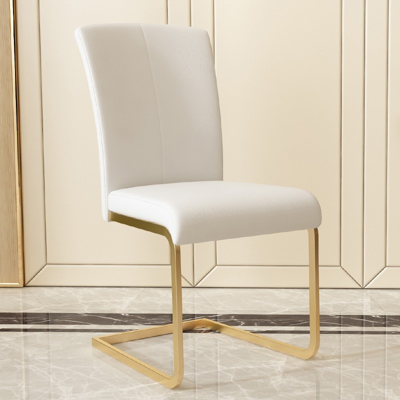 Modern Minimalist Upholstered White / Black Dining Chairs