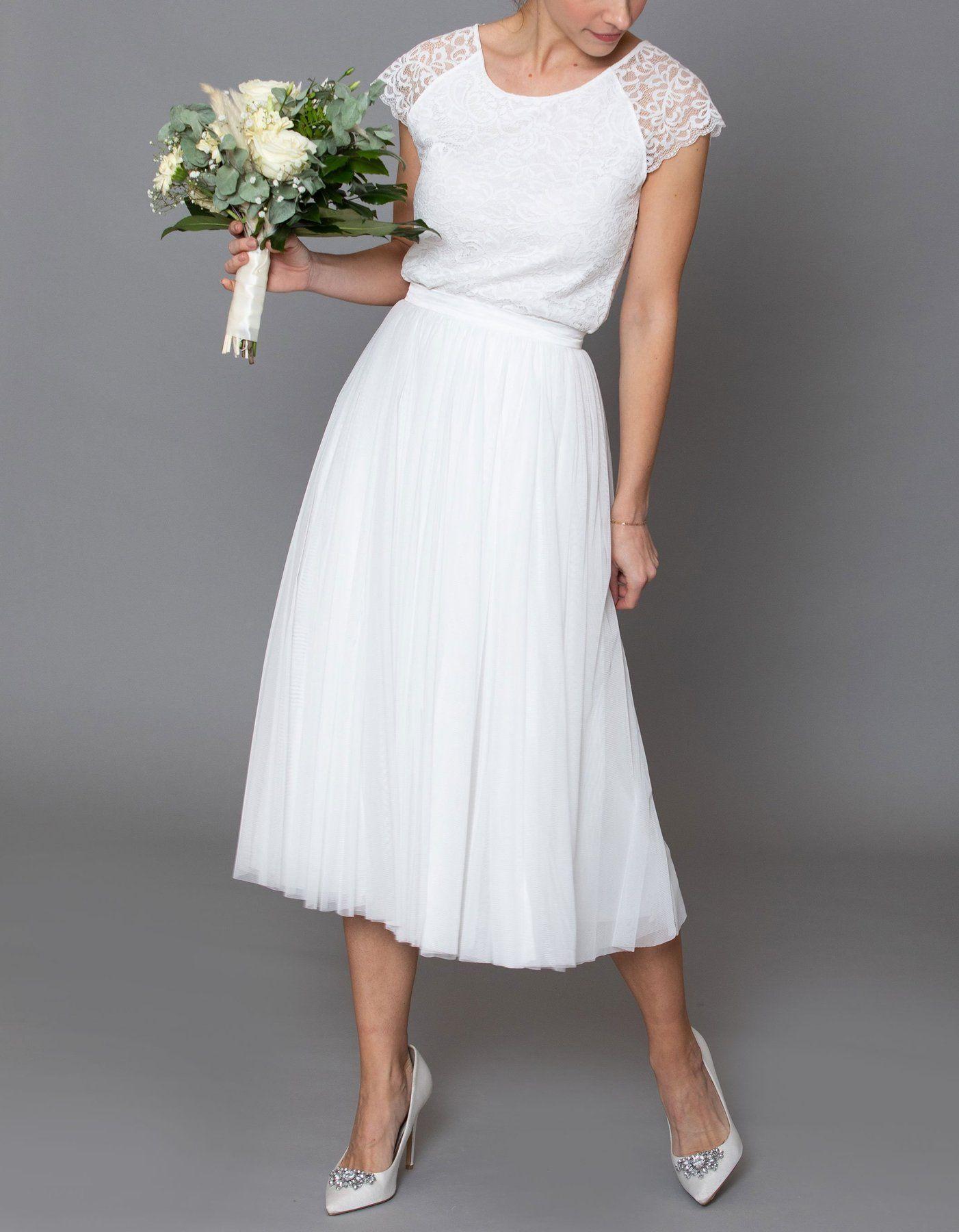 CONSTANT LOVE Tüll Rock Braut Midi - Bekleidung in 11  Kleid