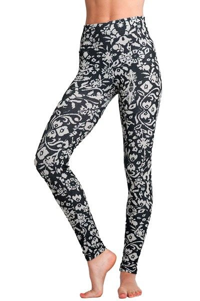Soxxy Socks Leggings Chelsea. Oh the places you'll go in these floral print black and white leggings. $45