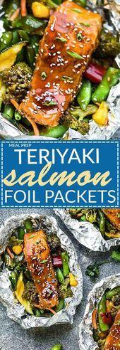 Salmon Teriyaki Fish / Seafood Packages   - foil pack dinners - #dinners #fish #Foil #Pack #PACKAGES #Salmon #Seafood #Teriyaki #foilpackdinners
