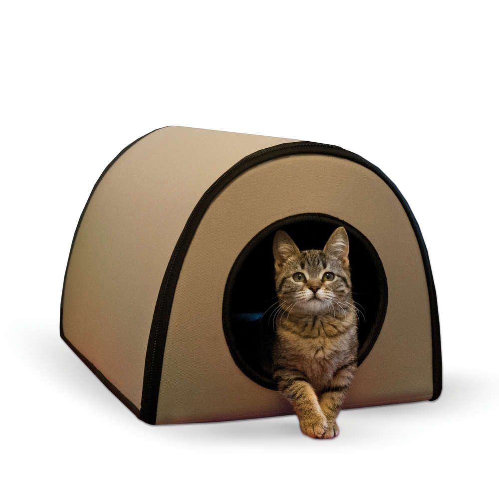 Kandh Pet Products Mod Thermo Kitty Shelter Tan 15 X 21 5 X 13 Wonderful Of Your Presence To Drop By To Visit Heated Cat House Outdoor Cat House Cat Bed