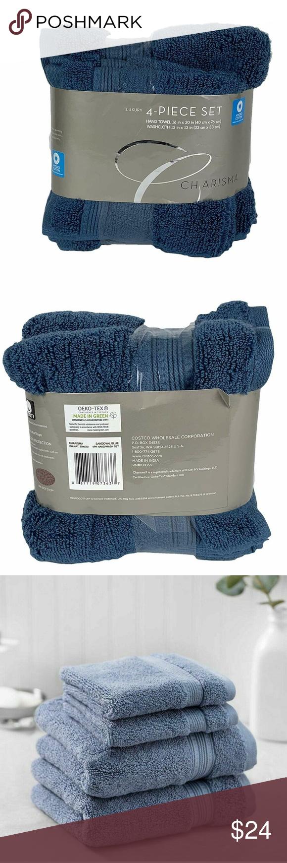 Charisma 100 Hygro Cotton 4 Piece Bath Towel Set Nwt Towel Set