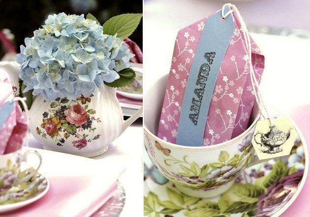 tea party table details